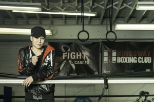 Jennifer Huggins - Owner of Kingsway Boxing Club and Founder of Fight To End Cancer.  Photo Credit: Vincent Dayrit/http://www.dayritphotography.ca