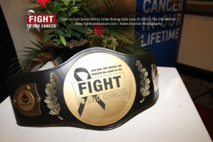 Fight To End Cancer Title Belt