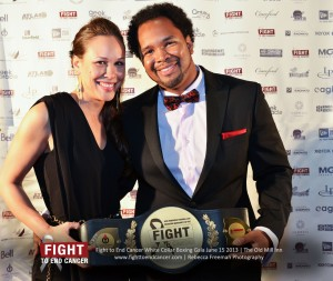 Jennifer Huggins (left) and Virgil Barrow (Right). Virgil of Kingsway Boxing Club trained and prepared the 2013 Fight Team.