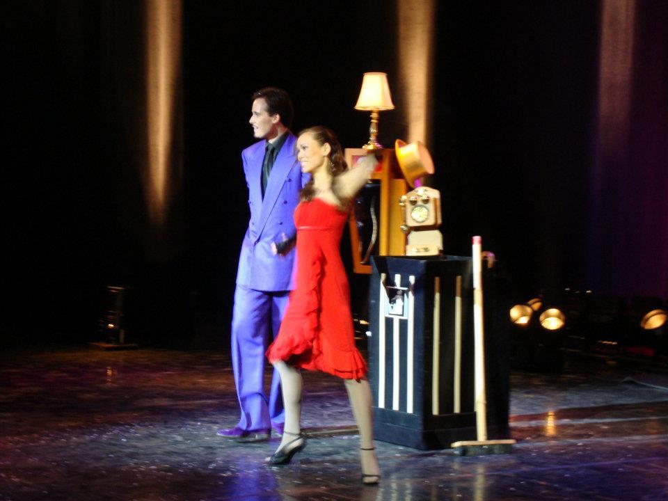 Richard Forget and Jennifer Huggins filming Le Plus Cabaret Du Monde in Paris France