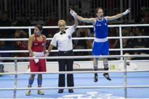 When the winner of the 51kg Women's Elite GOLD medalist was announced - Mandy Bujold
