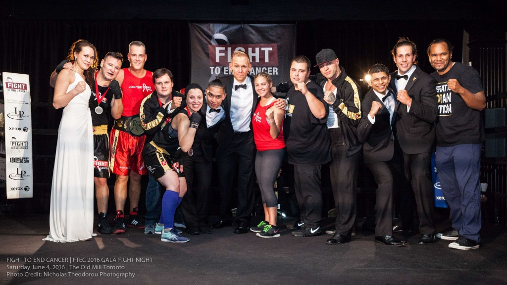 The entire FTEC2016 Fight Team, centre ring, for post-Gala team celebration - a perfect finale for a successful event. Photo Credit: Nicholas Theodorou