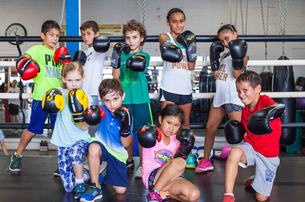 The Kids Boxing Programs range in age from 7 - 11 years old