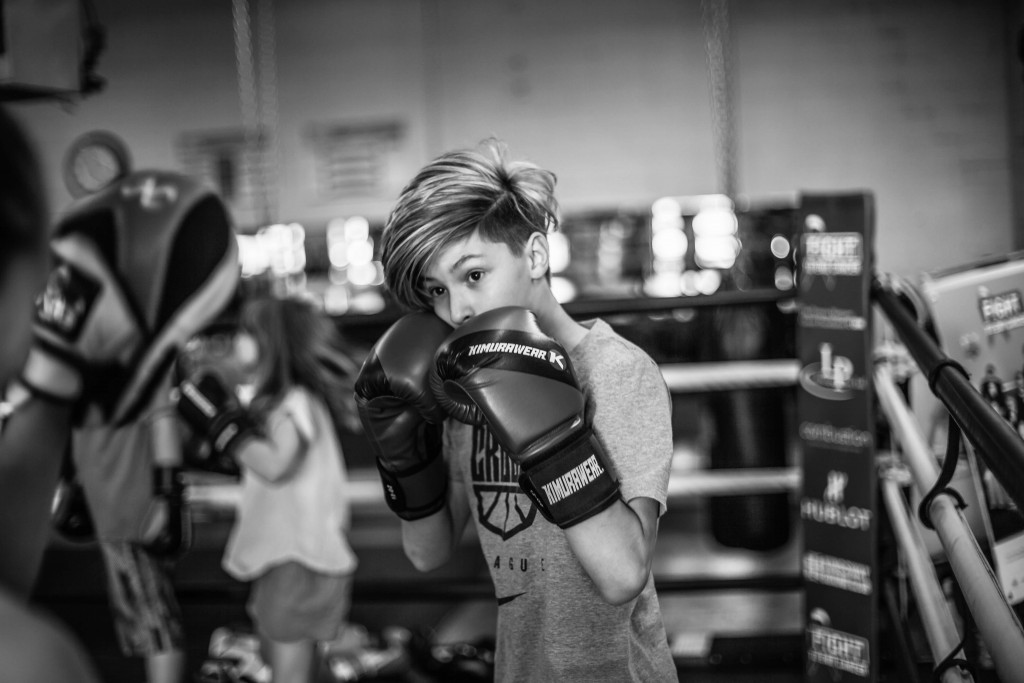 Riley boxes in our Co-Ed Teens Boxing Program, however he found the time this summer to come to the gym and train independently!