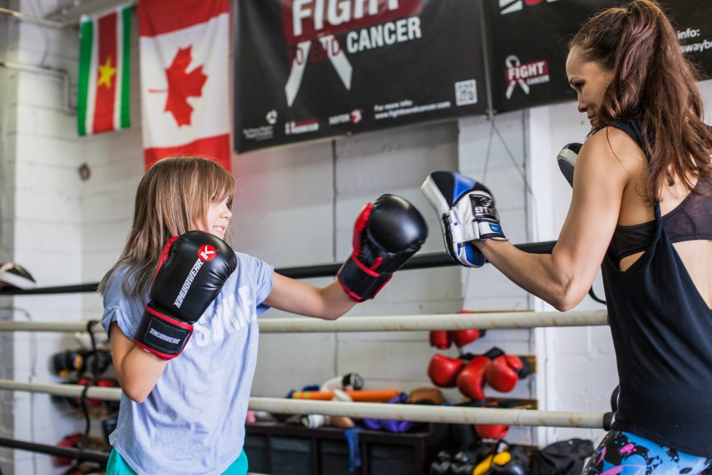 Abbey's mom fought in Kingsway Boxing Club's exclusive corporate boxing show 'Fight To End Cancer' in 2014. Since then, Abbey has been a part of our kids and teen programs.