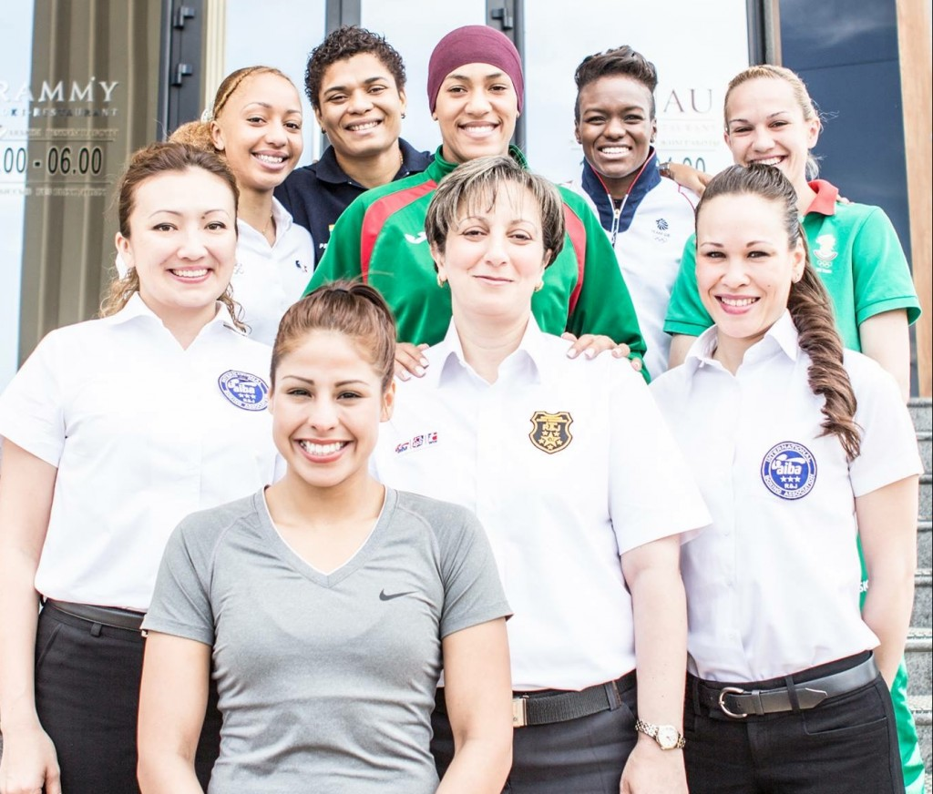Kingsway Boxing Club Owner, Jennifer Huggins (bottom right) and Olympic Champion Nicola Adams (top - second from right) were both selected as Official Ambassadors for Women's boxing at the 2016 World Championships in Kazakhstan.