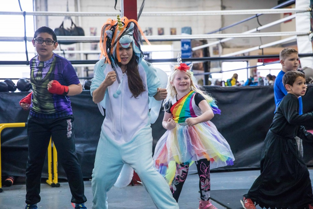 Photo Credit: Virgil Barrow | The kids enjoyed dressing up almost as much as the coaches (Jennifer Huggins is dressed up as a Pegasus in case you were wondering)