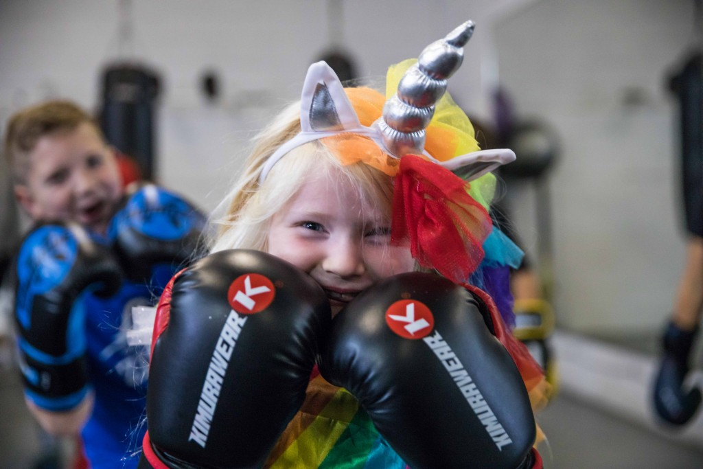 Photo Credit: Virgil Barrow | 6 year old Abbigail is one of the youngest boxers to ever come through the doors of Kingsway Boxing Club! For Halloween she dressed up as the meanest unicorn we've ever seen!