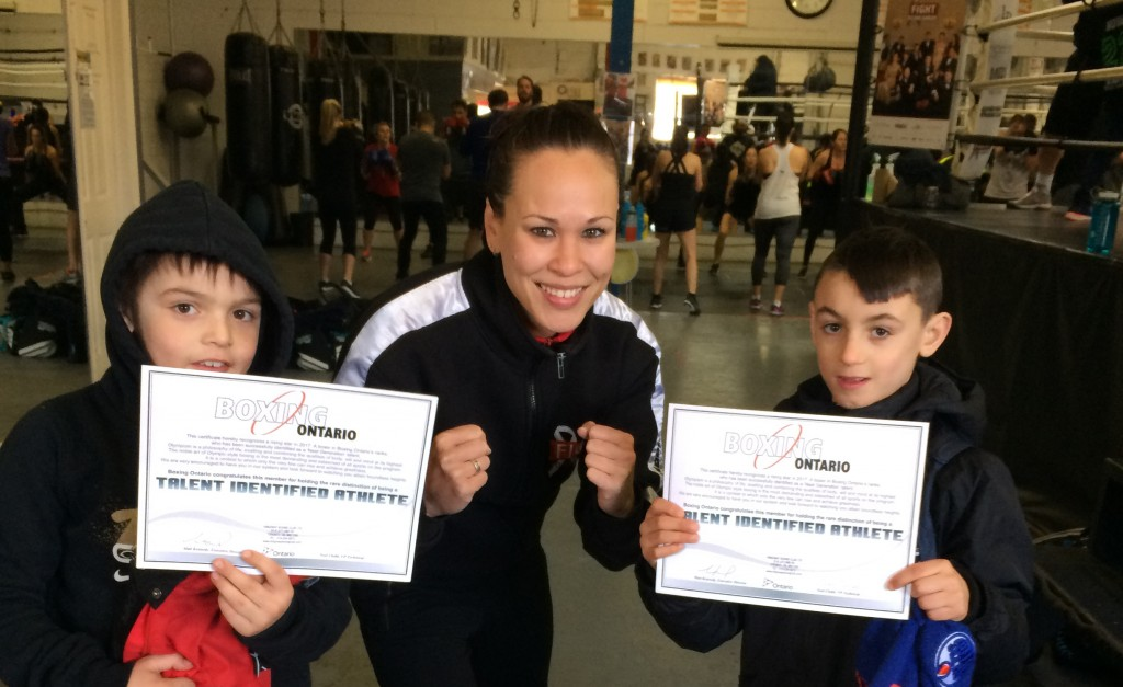 8 Year Old Dante and his best friend Michael are the two recipients of our Rising Talent Program with Boxing Ontario.