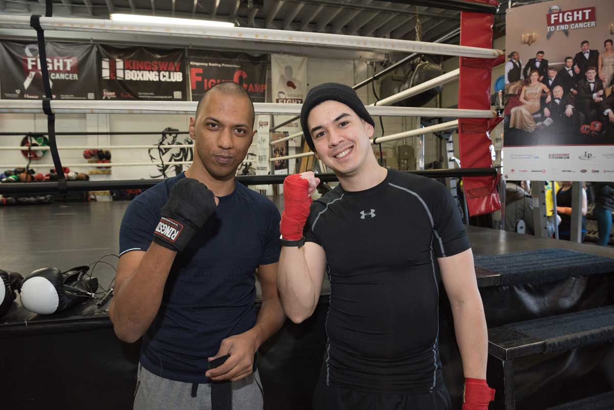 Zeus Sequeira (left) and Kris Bertram (right) both attended the 2018 Fight Camp held at Kingsway Boxing in January.