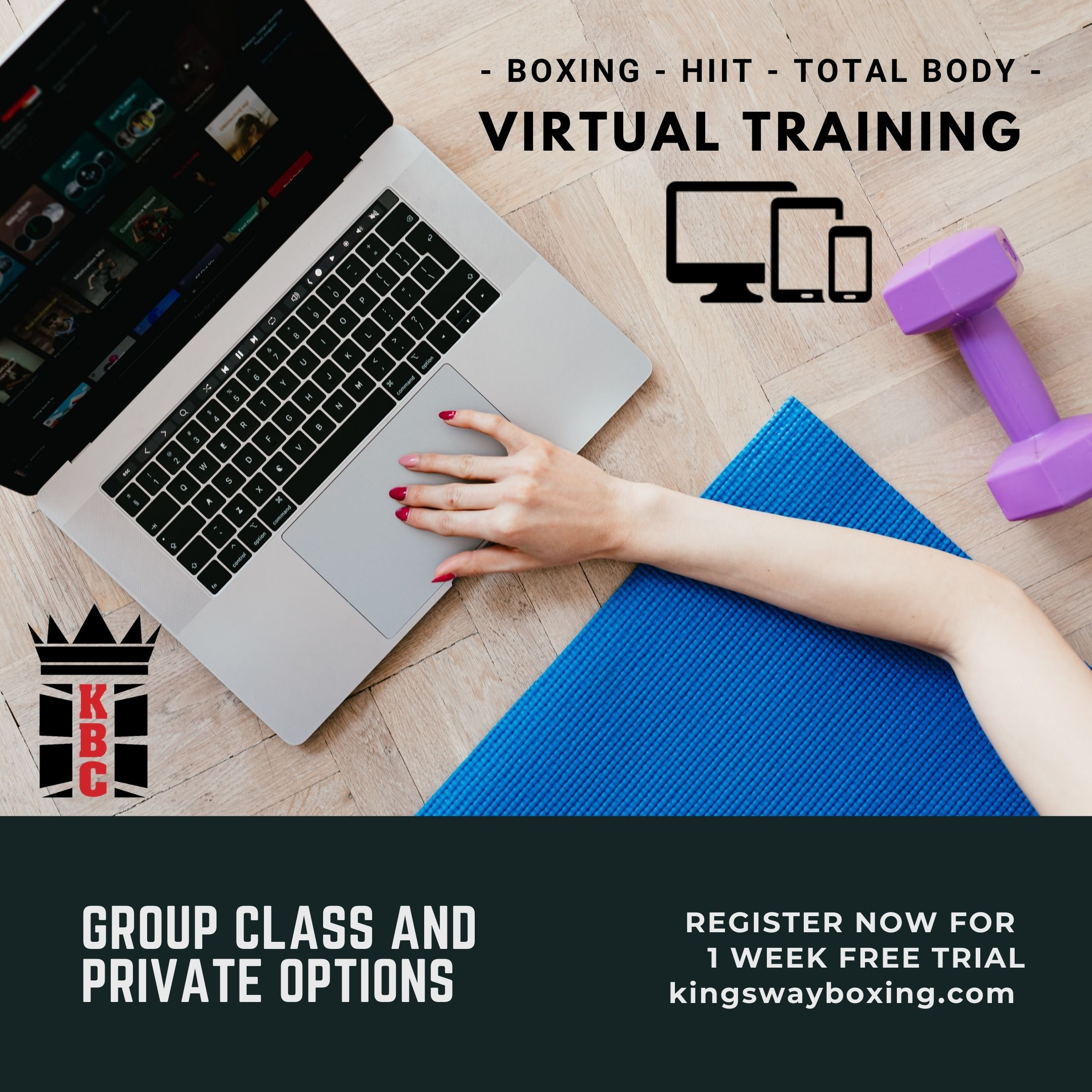 INTRODUCING: Virtual Classes & Private Training! 👩💻🏋️♀️