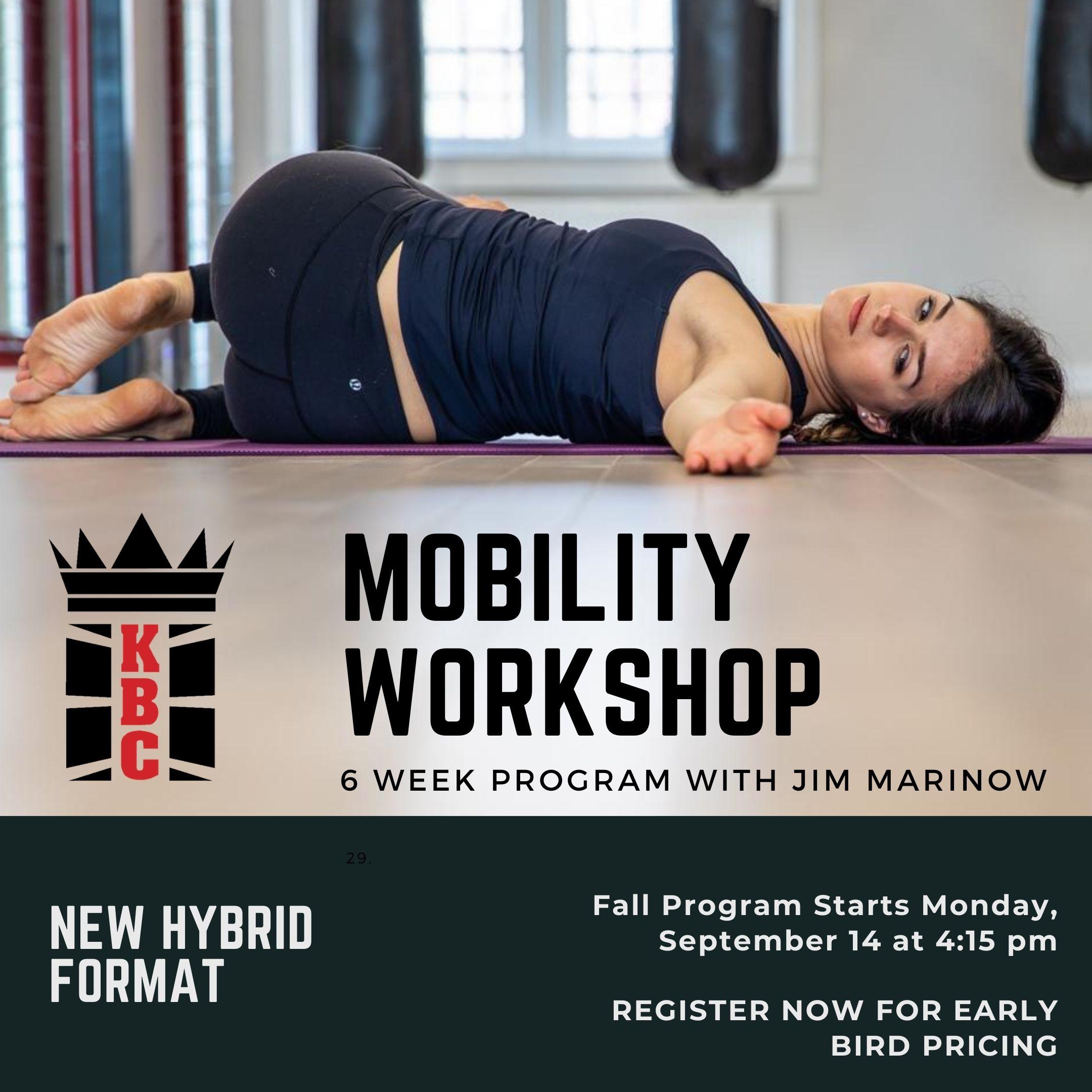 NEW PROGRAM – STABILITY-MOBILITY-STRENGTH 6 WEEK WORKSHOP WITH JIM MARINOW