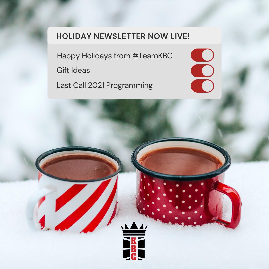 Happy Holidays, Gift Ideas & LAST CALL 2021 Programming!