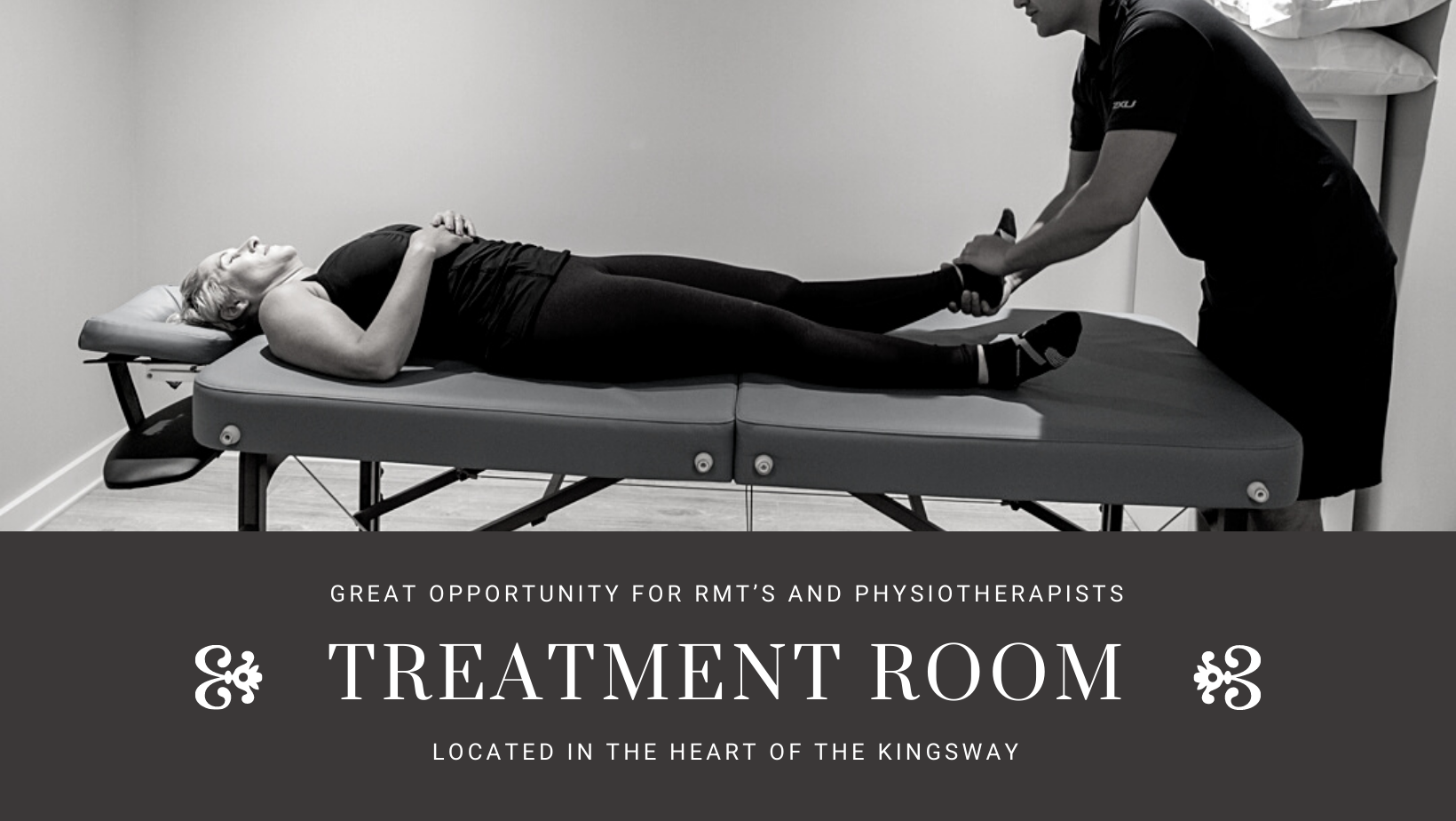 Great Opportunity For RMT's and Physiotherapists In the Heart Of The Kingsway